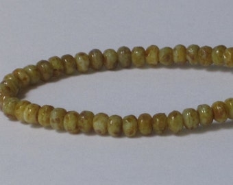 3x2mm Tiny Faceted Rondelle Glass Beads (Qty 50) 90-6-231