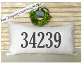 Zip Code Pillow | Housewarming Gifts | New Home | - Insert Included * FREE SHIPPING *