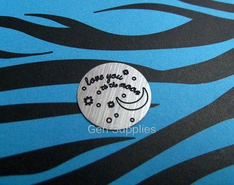 Love You To The Moon Floating Locket Plate