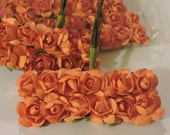 NEW COLOR Orange Mini Paper Flowers