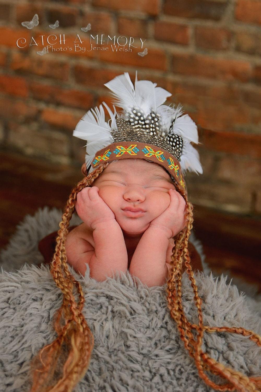 Indian Headress Infant Newborn Baby Native By Lapetitetutus