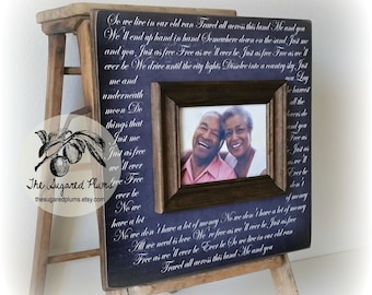 First Dance, Lyrics, Song, Wedding Frame, 5th Anniversary Gift, Unique Anniversary Gift 16x16 The Sugared Plums Frames