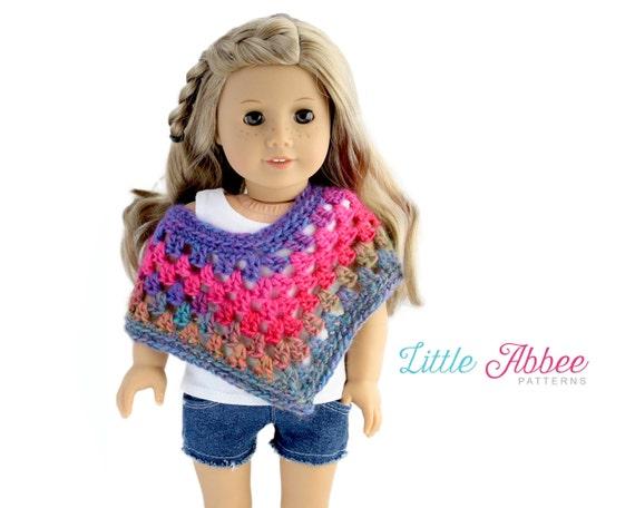 Crochet Doll Cape Pattern : Download Now CROCHET PATTERN 18 Doll Poncho Crochet