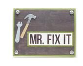 Mr. Fix It Men's Birthday Card, Happy Birthday Greeting Card For Him, Classy Handmade Card for Men