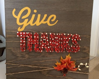 Wood GiVe ThanKs String Art HoliDays