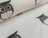 Owls Sweatshirt Fleece Knit Fabric