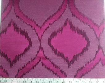 Custom Curtains Valance Roman Shade in Dark Fuschia / Mangenta in Peacock Pattern Fabric