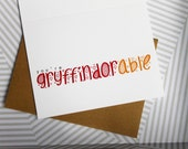 Valentines - You're Gryffindorable - A2 Harry Potter card - Gryffindor