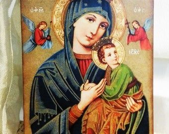 8 Our Lady Of Perputal Help Icon Gift Tags