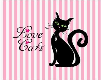 Love Cats Print