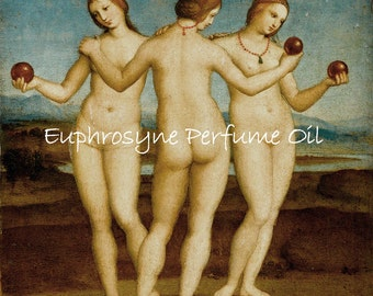 EUPHROSYNE Perfume Oil - Tropical Fruits, Pears, Sweet Cream, Caramel, Lily of the Valley, Three Graces - Goddess Perfume