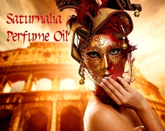 SATURNALIA Perfume Oil -  Almonds, Sandalwood, Frankincense, Hazelnuts, Cake - Yule - Christmas Perfume, Holiday Fragrance