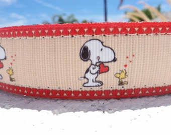 """Sale Dog Collar Snoopy 1"""" wide Side Release buckle or Martingale collar adjustable"""