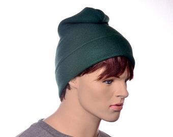Dark Green Phrygian Cap Simple Liberty Hat Mens Hat Women Forest Green Elf Pointed Hat Freemans Hat Watchman Pointed Hat Gnome Hat