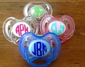 Monogram Pacifier Decals