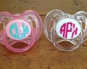Monogram Pacifier Decals - Paci Labels