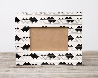 Black & White Alpine Picture Frame