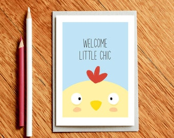 New Baby Card - Congratulations Baby Card - Welcome Little Chic