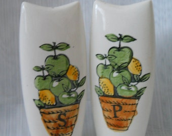 Retro Ceramic Salt and Pepper Shakers - vintage, collectible