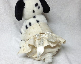 Female Dog Diaper Britches Pet  Panties Doggie Wrap Skirt Size XSmall To XLarge Golden Stars