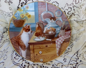 Table Manners Country Kitties Decorative Plate Gri Gerardi