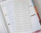 30 Blue Mason Jar Daily Hydration Planner Stickers, Perfect for Erin Condren, Kikki K, Plum Paper, Filofax
