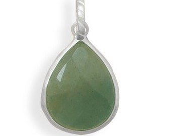 Green Aventurine Pendant in 925 Sterling Silver