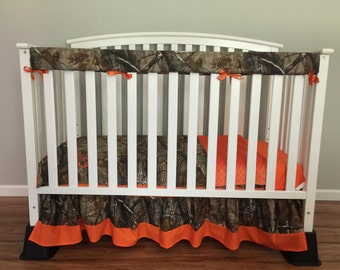 4pcCamo Crib/toddler baby bedding set bumperless with realtree camo Fabric