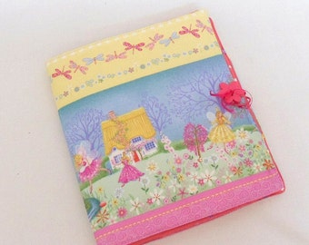 Girls Day Planner Fairy Fabric Cover for Notepads Pencils and Small Drawing Pad