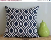 50% OFF Navy Blue Nicole Throw Pillow Cover - 16 inch