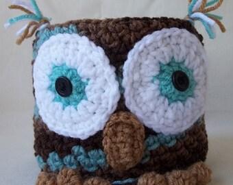 Toilet Paper Cover, Crochet Owl TP Cover, Owl Toilet Paper Cozy, Bathroom Decoration, Owl Toilet Paper Cover, Bath Accessory, Owl Deco