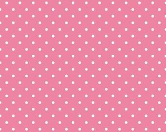 Swiss Dots Hot Pink Fabric by Riley Blake - 1 Yard