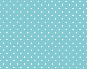 Swiss Dots Aqua Fabric by Riley Blake - Half Yard
