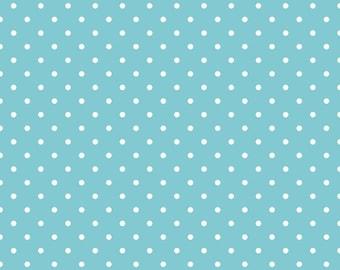 Swiss Dots Aqua Fabric by Riley Blake - Half Yard