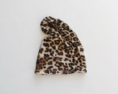 Leopard Print Reversible Slouchy Beanie / baby beanie / hipster toddler hat / unisex slouchy beanie