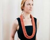 Bohemian Jewelry Macrame Necklace Boho Jewelry Bohemian Necklace Pink Statement Necklace Gift for Her Macrame Jewelry Rope Necklace