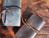 Groomens gift, leather pocket journal, handmade leather journal, leather notebook perfect gift handmade by Aixa Sobin book binder