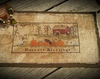 Harvest Blessings Table Runner- Cross Stitch  Original Model For My Pattern...