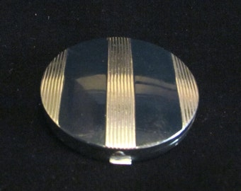 1930s Evening In Paris Compact Mirror Enamel Compact Art Deco Bourjois Makeup Compact