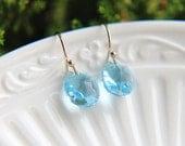 SALE,Birthstone Earrings, Crystal Earrings, Gold Filled Earrings, Swarovski Earrings, Dangle Earrings, Gold Earrings, Bridesmaid Jewelry
