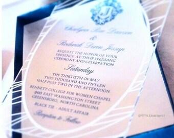 The Monogram Crest Acrylic Invitation Suite