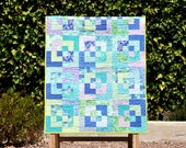 Waves on Horizon - A Colourful Baby Quilt - ready to ship