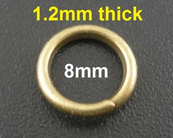 200 pcs Bronze Open Jump Rings - 8mm - 16 Gauge