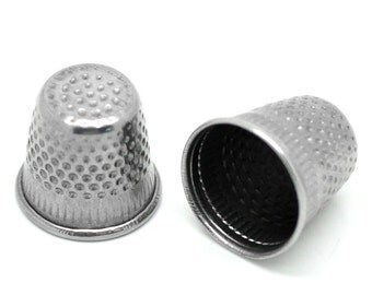 30pcs Silver Tone Sewing Thimbles - 19x18mm