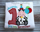 Barnyard Farm Animal Birthday Shirt/One Piece Short Sleeve - Personalized