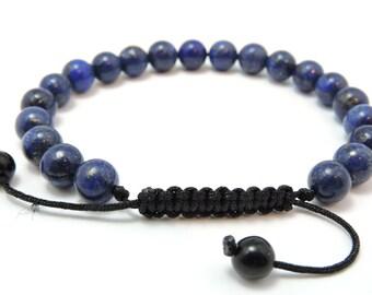 Tibetan mala Lapis Lazuli Wrist mala/ bracelet for meditation