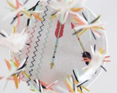 Tribal Arrow Feather Baby Mobile- You Pick Colors