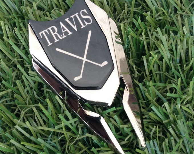 Personalized Golf Ball Marker & Divot Tool / Groomsmen Gift, Groom Gift, Guy Gift, Best Man Gift ,Gift for Dad, Men's Gift, Golf Accessories