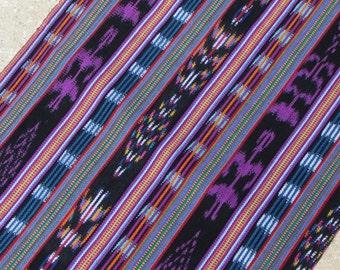 Guatemalan Fabric in Dark Ikat