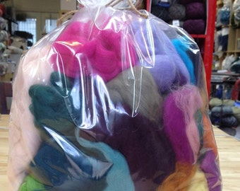 Spinning/Felting Fiber-Mixed Top and Roving Bag- 12 oz